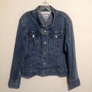 Vtg Tommy Hilfiger Stretch Denim Blue Jean Jacket